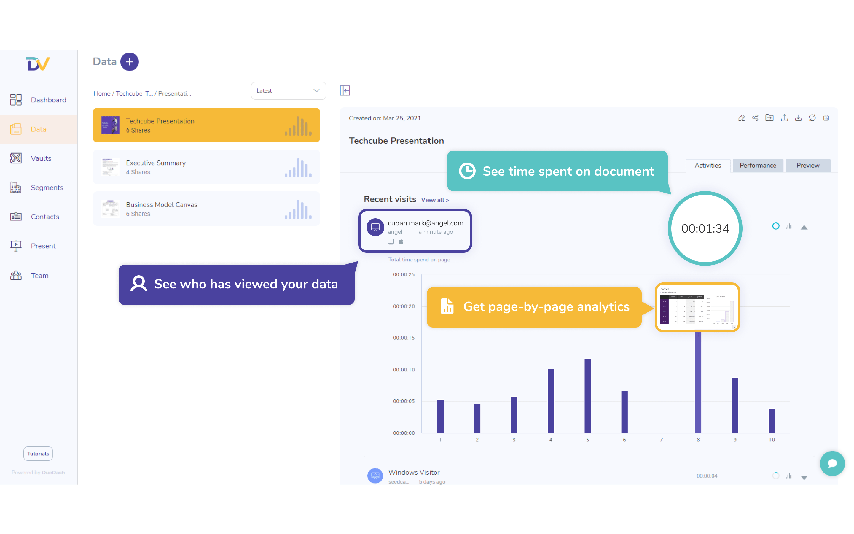 Data - Page-by-page data analytics